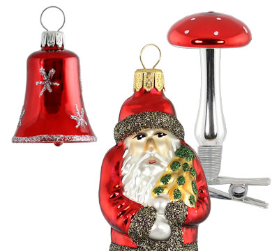 Authentic German Glass Christmas Ornaments